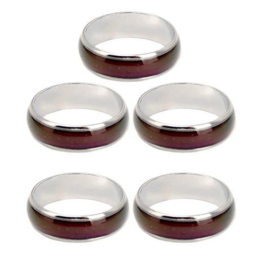 Gazechimp 5 Stück Stimmungsringe Farbwechselring emotionaler Ring US Größe 6-10
