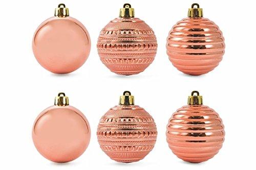 Galileo-Casa-Weihnachten-Set-Kugeln-Gold-Pink-6-x-6-x-6-cm-6-Stck
