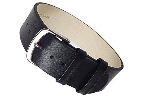 Apollo-Ersatzband-Durchzugsband-Kalbsleder-schwarz-22455S-Stegbreite20mm
