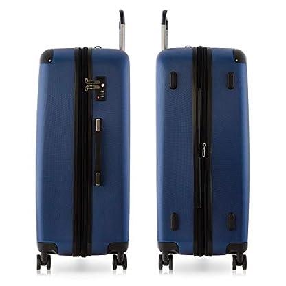 Happy-Trolley-3er-Koffer-Set-Trolley-Set-Rollkoffer-Hartschalen-Koffer-Reisekoffer-Lugano-sehr-leicht-TSA-S-M-XL-Dunkelblau-Badehandtuch