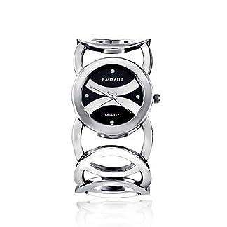 Souarts-Damen-Edelstahl-Armbanduhr-Strass-Quartzuhr-Analog-mit-Batterie