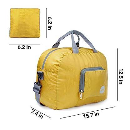 WANDF-Faltbare-Reisetasche-Leichter-Sporttasche-mit-Schulterriemen-und-Schuhfach-fr-Reisen-Sport-Gym-Urlaub-10-Farbewahl