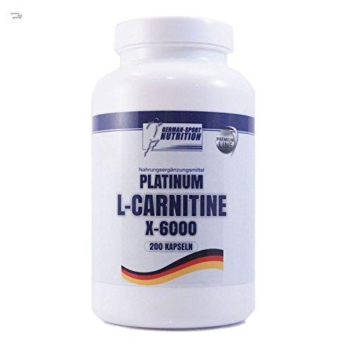 L-Carnitin Kapseln – L-Carnitine X-6000 extrem hochdosiert 200 Caps Carnitin Diät Definitionsphase