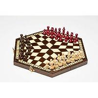 CHESSCHECK-Schachpiel-fr-DREI-Schach-aus-Holz
