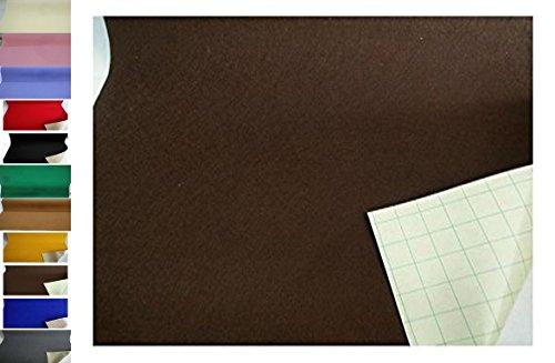 StoffBook EDEL BASTELFILZ FILZSTOFF SELBSTKLEBEND 100CM BREIT STOFF STOFFE, C355 (DKLBRAUN)