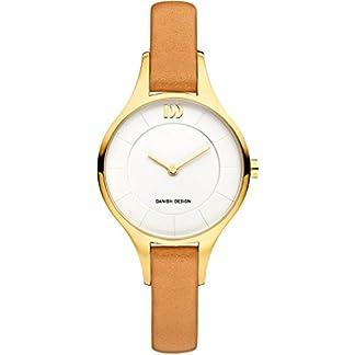 Danish-Design-Damen-Analog-Quarz-Uhr-mit-Leder-Armband-IV15Q1187