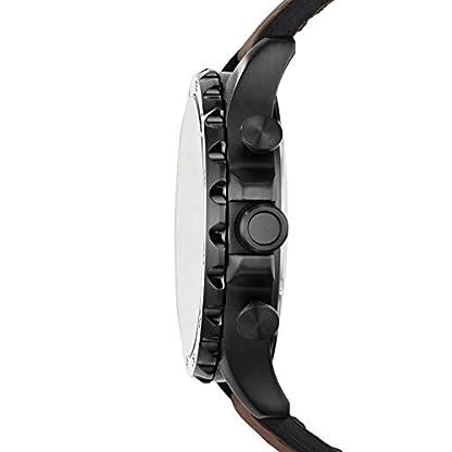 Fossil-Herren-Armbanduhr-Nate-mit-schwarzgoldenem-Ziffernblatt-braunem-Lederarmband-Analoguhr-mit-Chronographen-Funktion-Datumsanzeige-10-bar-Wasserdichtigkeit