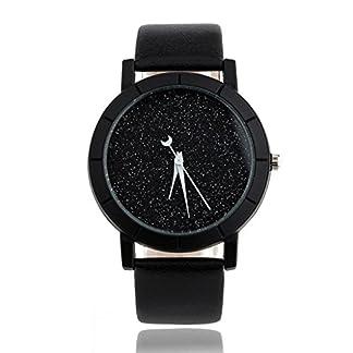 Liebhaber-Simple-Uhren-Keepwin-Damen-Charm-Sterne-Himmel-Mond-Zeiger-Armbanduhr-Analog-Lederband-Quarzuhr-fr-Frauen-Herren