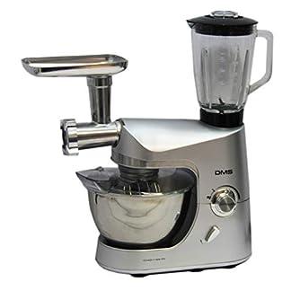 DMS-Kchenmaschine-Multifunktional-mit-Standmixer-Smoothie-maker-Kchenhelfer-mit-Fleischwolf-Rhrmaschine-1800-W-max-silber