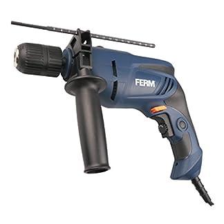 FERM-Schlagbohrmaschine-800W-13mm-Variable-Geschwindigkeitskontrolle-Soft-griff-Bohrtiefenanschlag