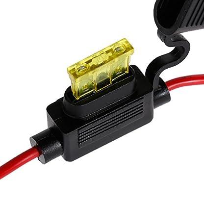 Rovtop-6er-wasserdicht-Auto-Sicherungshalter-Inline-Blade-Fuse-Holder-mit-voll-vergossenem-Gehuse-M-Gre-schwarz-rot