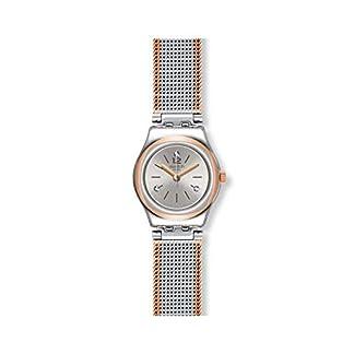 Swatch-Damen-Analog-Quarz-Uhr-mit-Edelstahl-Armband-YSS327M
