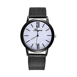 Lolamber-Armbanduhr-fr-Damen-Herren-Slim-Uhr-Armband-Frauen-Silikonband-Geschfts-Klassisch-Analog-Quarz-Dnn-Armbanduhr-mdchen-Luxus-Elegant-Schwarz-Uhr-mit-Schwarz-Zifferblat