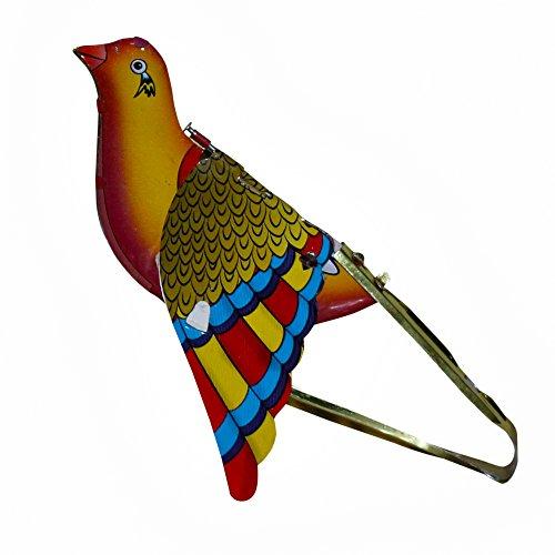 RoyaltyRoute-Vintage-Singender-Vogel-Spatz-Old-Tin-Toys-Sammlerstcke-Geschenkartikel-Farben-knnen-variieren