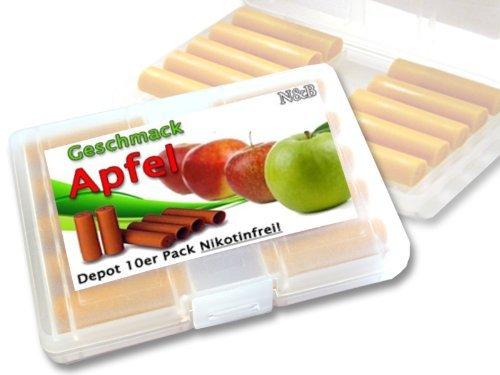 fruchtige Depots ,,Apfel,, 10er Pack im Etui für E-Zigaretten ohne Nikotin