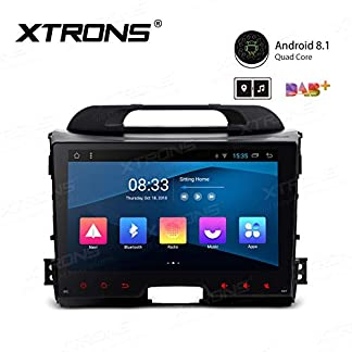 XTRONS-9-Android-Autoradio-mit-Touchscreen-Android-81-Quad-Core-DVD-Player-Autostereo-4G-Full-RCA-Ausgang-Bluetooth50-Lenkradfernbedienung-16GB-ROM-DAB-OBD2-TPMS-FR-KIA-Sportage-Series-3
