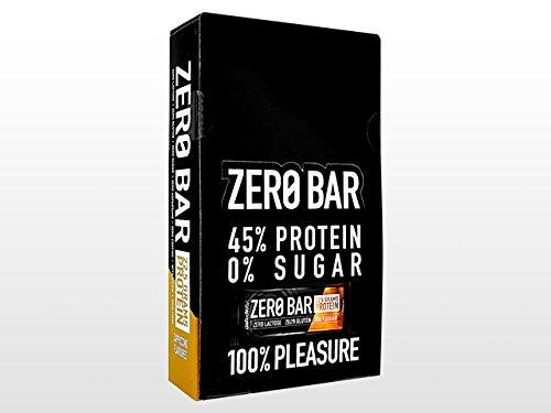 BiotechUSA ZERO Bar 50g Riegel , Cappucino – Eines der besten Proteinriegel – 45% Protein, 0% Zucker, Laktosefrei, Glutenfrei. Low-Carb-Riegel mit Stevia