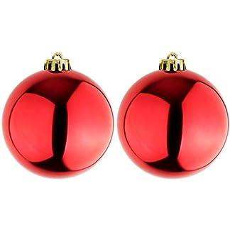 Mojawo-2-Stck-XXXL-Christbaumkugeln-Weihnachtsbaumkugeln-Dekokugel-Baumschmuck-rot–25cm-Schmuckkugeln