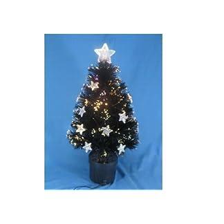 24-Zoll-Schwarz-Faseroptik-Weihnachts-Baum-Mit-Sterne