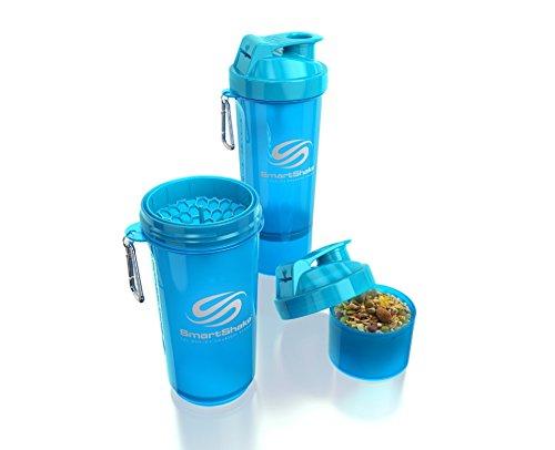 SmartShake 500 ml/18 oz, blau Slim neon, 1er Pack