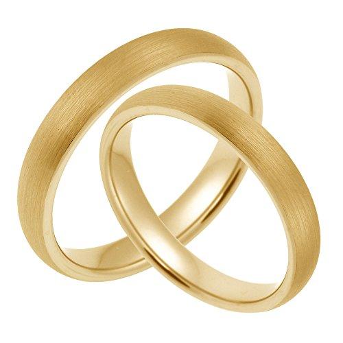 Trauringe Eheringe Freundschaftsringe aus Wolfram/gelbgold ohne Stein (CORE Wolfram Basic Collection) mit GRATIS Gravur SW020.06