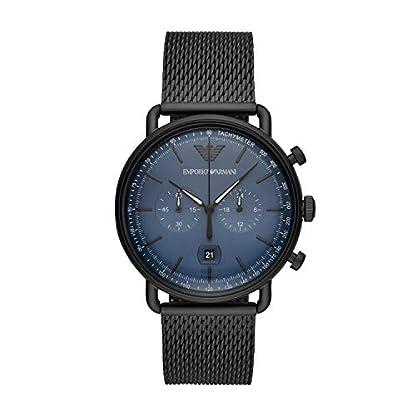 Emporio-Armani-Herren-Chronograph-Quarz-Uhr-mit-Edelstahl-Armband-AR11201