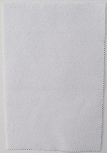 Fabrics-City 2MM FILZPLATTE CA. 20X30CM DEKO BASTELN FILZ STOFF STOFFE , 4317 (weiß)
