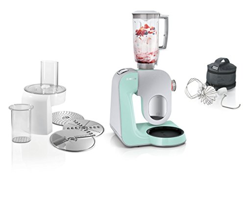 Bosch MUM5 MUM58020 CreationLine Küchenmaschine (vielseitig einsetzbar,  große Edelstahl-Schüssel (3,9 l), Mixer, Durchlaufschnitzler, 1.000 Watt)  ...