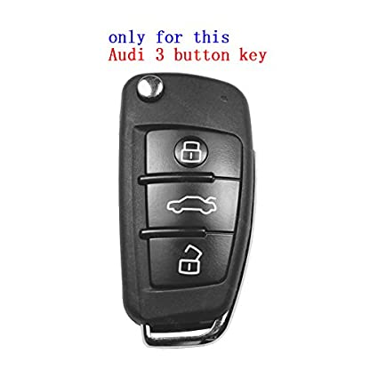 SpringPear-Schutzhlle-fr-Audi-3-Tasten-Klappschlssel-Silikon-Hlle