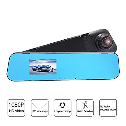 Roblue-Dashcam-Autokamera-1080P-Rckspiegel-Monitor-mit-Rckfahrkamera-Dual-Lens-Touchscreen-170-Weitwinkel-28363943-Zoll