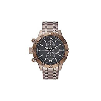 Louis-Villiers-Unisex-Analog-Quarz-Uhr-mit-Edelstahl-Armband-LV1024