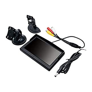 MASO-Digitaler-TFT-LCD-Auto-Monitor-fr-Rckfahrkamera-127-cm-5-Zoll-800-x-480-Display-mit-Zwei-Halterungen-und-Zwei-Videoeingngen