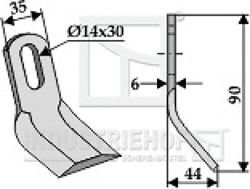 Y-Messer-Mulchmesser-63-NOB-35-passend-fr-Kuhn-Mulcher