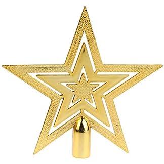 Toruiwa-Weihnachtsbaum-Stern-Weihnachtsbaumspitze-Baumspitze-Baumschmuck-Baum-Stern-Topper-Weihnachten-Deko-Gold