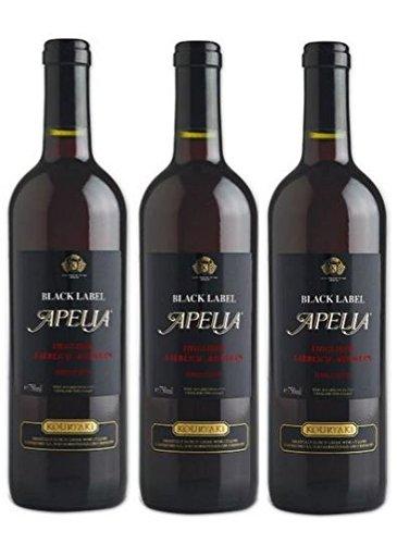 3x apelia black label 750 ml rotwein lieblich aus. Black Bedroom Furniture Sets. Home Design Ideas