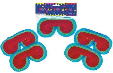 Pinata-Set-ZAHL-3-mit-Maske-Schlger-100-teiliger-Sigkeiten-Fllung-No1-von-Carpeta-Handgefertigte-spanische-Pinata-Tolles-Spiel-fr-Kindergeburtstag-oder-Mottoparty