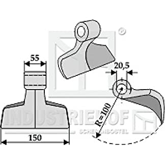 Hammerschlegel-63-RM-10-20-150-mm-passend-fr-Maschio-Mulcher