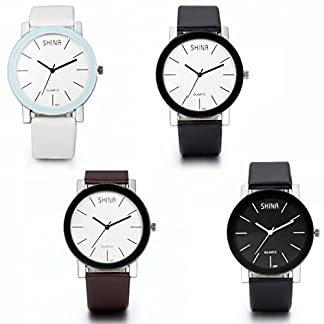 JewelryWe-Herren-Damen-Armbanduhr-Leder-Legierung-Fashion-Business-Casual-Analog-Quarz-Uhr-mit-Leder-Armband-4-Modellen