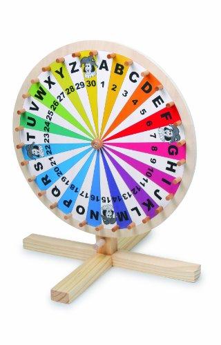 Gesellschaftsspiel-Glcksrad-aus-Holz-fr-Lotteriespiele-Wortspiele-oder-erdachte-Spiele-auf-jeder-Tischplatte-spielbar-Spielspa-fr-die-ganze-Familie-ab-5-Jahre