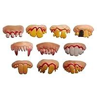 BESTOYARD-Lustige-falsche-Zhne-Prop-verrckte-knstliche-Zhne-Spielzeug-fr-Weihnachten-Ostern-Halloween-Maskerade-5-Stcke-zufllige-Form