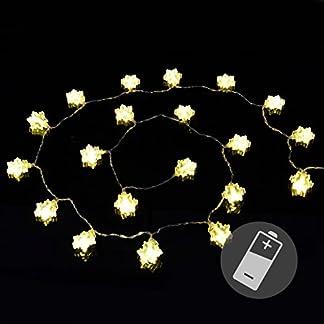 Nexos-Lichterkette-20er-LED-warmwei-Flocke-Schneeflocke-Weihnachten-Batterie-Deko