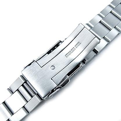 20-mm-Super-Oyster-Armbanduhr-Armband-fr-Seiko-Mittelstndische-Diver-skx023-Diver-Verschluss-gebrstet