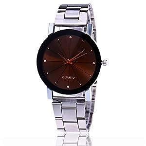 MJARTORIA-Damen-Mode-Armbanduhr-Einfach-StilEdelstahl-Armband-Modeschmuck-Damenuhr-Quarz-Analog-Uhr-Silber-Farbe
