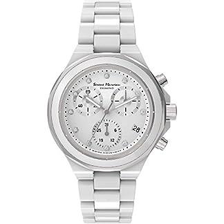 Serene-Marceau-Diamond-Damen-Chronograph-Quarz-Uhr-mit-Keramik-Armband-S01301