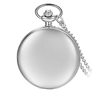 avaner-Silber-glatt-polierte-Metall-wei-arabische-Zahlen-Analog-Quarz-moderne-Taschenuhr-Anhnger-Halskette-fr-Herren-Damen-mit-Kette