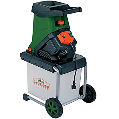 Monzana-Elektrischer-Leisehcksler-2500W-50L-Auffangbox-Gartenhcksler-Schredder-Leisehcksler-Hcksler-Holzhcksler