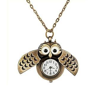 XLORDX-Vintage-superse-Taschenuhr-Halskette-mit-Uhr-Kette-Quarz-Eule-Eulenkette-Bronze-Schmuck-Quarzuhr-Eulenuhr-Owl-Necklace