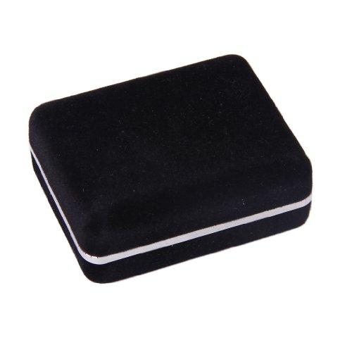 schwarz Manschettenknopf Manschettenknöpfe Lagerung Geschenkbox Schmuck-Vitrine