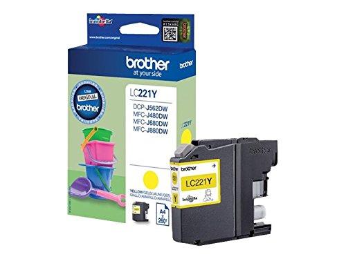 Brother-Original-Tintenpatrone-LC-221Y-gelb-kompatibel-mit-Brother-DCP-J562DW-MFC-J480DW-MFC-J680DW-MFC-J880DW