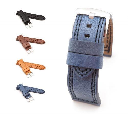 BOB-XL-Uhrenarmband-Vintage-Rind-Modell-Mare-4-Farben-neu-Gre-Uhr-22-mm-Schliee-22-mm